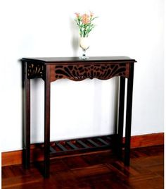 Mahogany End Table Entryway Furniture Console Wooden Antique Hall Living Room #DArtCollection