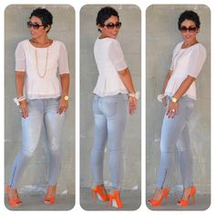 Todays Look:  Forever 21 Swiss Dot Peplum + Zara Basic Stretch Jeans @ www.mimigstyle.com