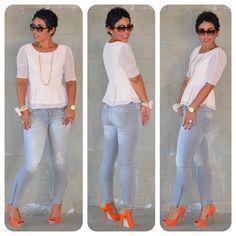 Todays Look: Forever 21 Swiss Dot Peplum + Zara Basic Stretch Jeans @ www.mimigstyle.com #Zara #Forever21 #Katespade