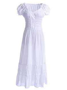 Anna-Kaci S/M Fit White Peasant Maiden Boho Inspired Cap Sleeve Lace Trim Dress Anna-Kaci http://www.amazon.com/dp/B00E81C6PE/ref=cm_sw_r_pi_dp_mZ-Aub172X0SY
