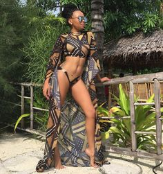 Five African Designers Setting The Pace In Swimwear Fashion. African Print Bathing Suit, Bathing Suits, Swimwear Brands, Designer Swimwear, African Wear, African Fashion, African Swimwear, Carnival Outfits, African Design