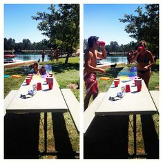 """slip cup"" slide chug and flip. This should somehow be incorporated into an S4 tailgate on a HOT tailgate day!"
