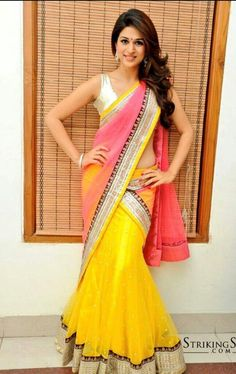 Indian ethnic #sari with a #glow. #VioletStreet www.violetstreet.com