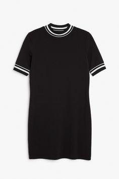 Monki Image 1 of Sporty dress  in Black
