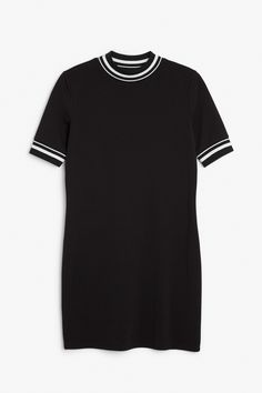 Monki Image 1 of Sporty dress  in Black