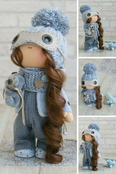 Winter Doll Christmas Doll New Year Doll Fabric Doll Handmade Doll Muñecas Textile Blue Rag Doll Cloth Doll Tilda Doll Baby Doll by Alena R _____________________________________________________________________________________   This is handmade soft doll created by Master Alena R (Moscow, Russia). Doll is 30 cm (11.8 inch) tall.  Dolls and toys are made from quality materials - european dolls fabric and/or american 100% cotton. Knitted elements are made from wool and/or mohair. All ...