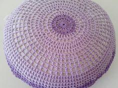 Tecendo Artes em Crochet: Capa p/ Banquinho e Almofada - Encomenda concluída!