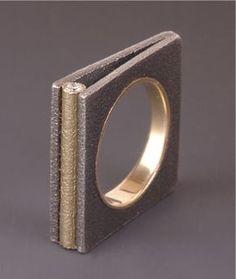 Ring | Maria Samora - Sterling silver, 18k gold, diamonds