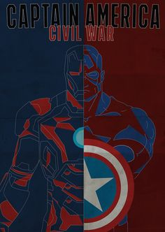 """Captain America - Civil War poster remake!  I remade the poster of """"Captain America - Civil War """", a 2016 superhero film based on the fictional Marvel Comics characters Cap. America and Iron Man (but not only...), directed by Anthony e Joe Russo."""
