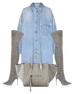 """""""Untitled #234"""" by emilyjanestyle ❤ liked on Polyvore featuring Gianvito Rossi and CÉLINE"""
