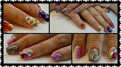 beauty in nails #nailart #foil saok off, #color gel #nail art con #foilgel  #smalti #semipermanenti e #gel colorati #beautyinnails