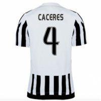 Juventus 2015-16 Season Home CACERES #4 Jersey