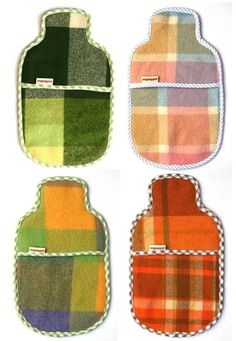 Sewing Blankets clever design for hot water bottle cover, the bound open edges in the middle to slip it in and out Sewing Hacks, Sewing Crafts, Sewing Projects, Weighted Blanket, Wool Blanket, Blanket Stitch, Frankie Magazine, Water Bottle Covers, Winter Warmers