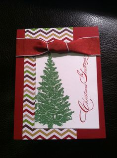 Special Season, Winter Frost, Christmas Tree Card Stampin Up