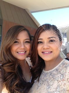 Hair and makeup done by me on myself and my little sister who became Mrs Treminio today. =)