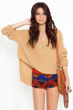oversized open knit sweater