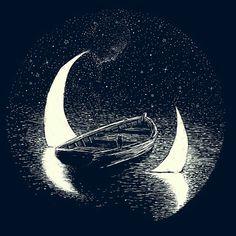 Картинка с тегом «moon, night, and black»