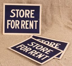 """Store For Rent"" Cardboard Sign"