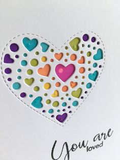 I used the new Simon Says Stamp Sprinkle Heart die and made three cards. I used three markers and colored all the hearts and dots. Heart Cards, Scrapbook Cards, Scrapbooking, Simon Says Stamp, Anniversary Cards, Making Ideas, Sprinkles, Cardmaking, Markers