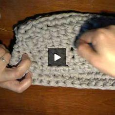 Cómo hacer un bolso de mano de trapillo (paso a paso con video) - Portaldelabores.com | Portal de labores | Directorio de labores | Portal d...