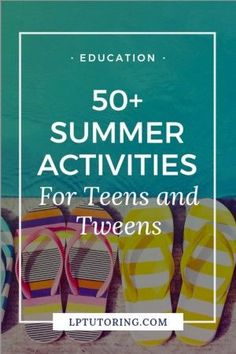 "Heard the phrase, ""I'm bored"" yet? Summer vacation is long and can drag at times. Click through for over 50 fun summer activities for tweens and teens! Summer Activities For Teens, Summer Fun, Summer Bucket, Teen Summer, Online Tutoring, Im Bored, Parenting Teens, Curriculum, Homeschooling Resources"