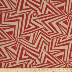Cotton Lawn Prints Angles Red/Ivory