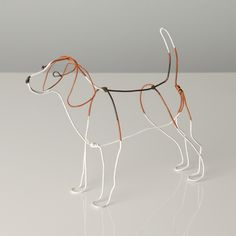Dogs in Art Gallery - Wire Sculpture of Beagle by Bridget Baker, SOLD - but others similar available to order (http://www.dogsinart.com/products/Wire-Sculpture-of-Beagle-by-Bridget-Baker.html)