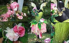 rose fairy costume by Firefly Path. Faerie Costume, Fairy Tale Costumes, Fantasy Costumes, Mode Costume, Fairy Princesses, Midsummer Nights Dream, Fairy Dress, Fairy Godmother, Godmother Dress