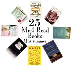 25 Book Recommendations For Summertime Reading - I was just looking for some books to read!