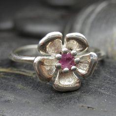 pink tourmaline cherry blossom ring.