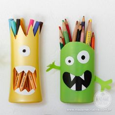 pencil holders from shampoo bottles