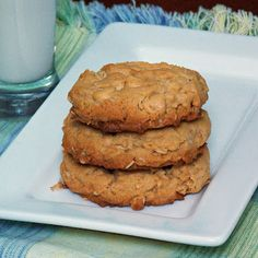 The Life & Loves of Grumpy's Honeybunch: Peanut Butter Oatmeal Chip Cookies #cookies #dessert