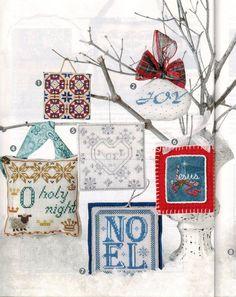 cross stitch christmas ornaments - Google Search