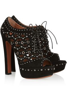 Alaïa Studded suede ankle boots