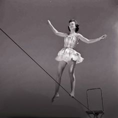 vintage tightrope walker Trapeze walker at Circus Girl University of Florida March 1952 Photo Old Circus, Circus Acts, Night Circus, Circus Train, Dark Circus, Carnival Themes, Circus Theme, Circus Birthday, Carnival Costumes