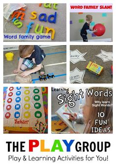 20+ Hands-on and Fun Activities to foster learning Sight Words & Phonics skills for kids (plus lots more ideas for early literacy activities)