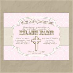 Girl First Communion Invitation by KendyllRaes on Etsy, $10.00
