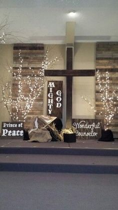 Christmas stage design … Artificial fir tree as Christmas decoration? An artificial Christm… - Moyiki Sites Christmas Stage Decorations, Christmas Stage Design, Church Altar Decorations, Christmas Backdrops, Church Interior Design, Church Stage Design, Bühnen Design, Design Ideas, Church Foyer
