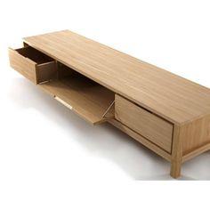 Mobile TV basso in legno Collezione Solid by Karpenter Tv Cabinet Design, Tv Unit Design, Sala Ikea, Wood Furniture, Furniture Design, Flip Furniture, Furniture Stores, Armoire Tv, Bedside Table Design
