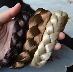 2.5 cm large Nouvelle Arrivée freeshipping de mode bohème perruques tresse épaisse large bandeau accessoires de cheveux de mode populaires