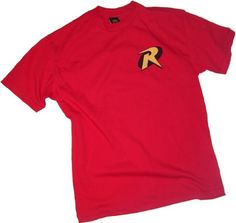 Robin Logo -- Batman & Robin Adult T-Shirt, Small DC Comics http://www.amazon.com/dp/B003JMO2LY/ref=cm_sw_r_pi_dp_3emjub0STQ7AY
