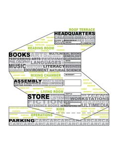 Sectional program diagram of Seattle Central Library, OMA + LMN.