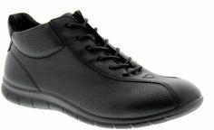 ECCO Aswan werkschoenen - zwart | Crewshoes.nl