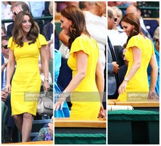 Catherine, Duchess of Cambridge attends the men's singles final on day thirteen of the Wimbledon Tennis Championships at the All England Lawn Tennis and Croquet Club on July 15, 2018 in London, England.