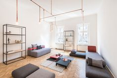 copper and home: batlab remodels house with web-lights in budapest