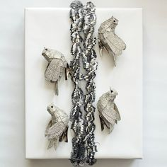 Chirstmas inspiration. Glittered birds. Silver Glitter Bird Clip Ornaments, Set of 4 from West Elm.