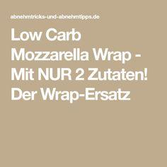 Low Carb Mozzarella Wrap - Mit NUR 2 Zutaten! Der Wrap-Ersatz