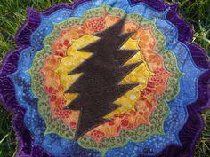 Rainbow Lotus Mandala Grateful Dead Patchwork by aStitchInTime000