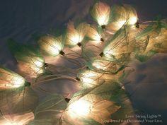 Natural Green Bodhi Tree leaf String Lights