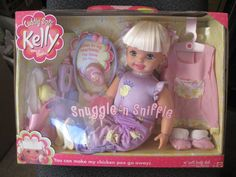 """2002 Cuddly Soft Kelly Sister Barbie Snuggle 'n Sniffle 16"""" Soft Chicken Pox"""